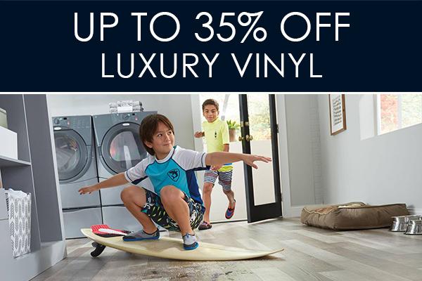 Up to 35% OFF Luxury Vinyl at Abbey Carpet & Floor in Bentonville!